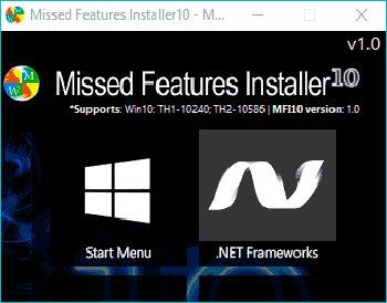Missed Features Installer 10