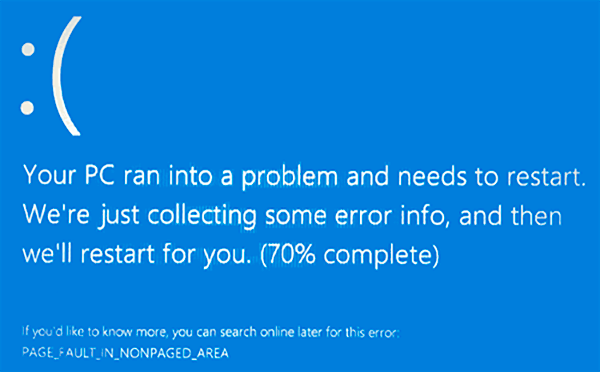 Ошибка PAGE FAULT IN NONPAGED AREA в Windows 10